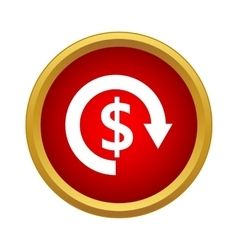 Currency exchange icon simple style vector image