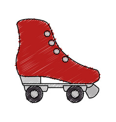 retro skate isolated icon vector image