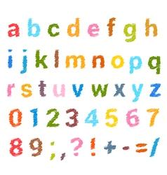 Sketched alphabet set vector image vector image