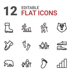 12 walking icons vector