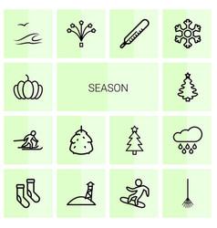 14 season icons vector