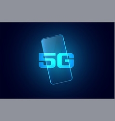 5g fifth generation mobile superfast technology vector image