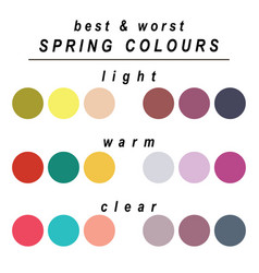 Best and worst colours for spring vector