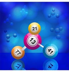Bingo balls molecule vector