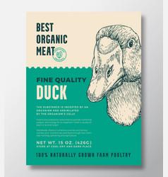 Bird portrait organic meat abstract vector