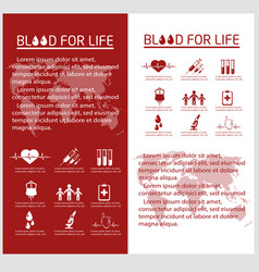 Blood donor flyer design template vector