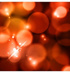 Bokeh red lights vector image