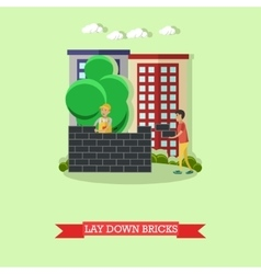bricklayer masonry concept vector image