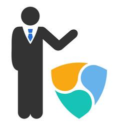 Businessman show nem flat icon vector