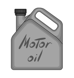 Can of engine oilcar single icon in monochrome vector