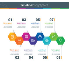 clean and colourful timeline infographics vector image