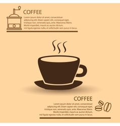 Coffee cup simple brown infographics theme eps10 vector