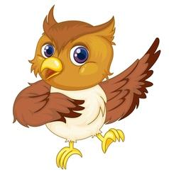 Comical owl vector