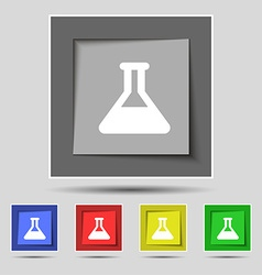 Conical Flask icon sign on the original five vector image