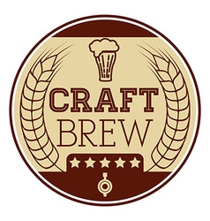 Craft brew icon vector image