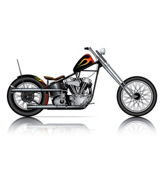custom chopper vector image