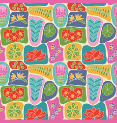 cute wallpaper with beauty flat style tropical vector image