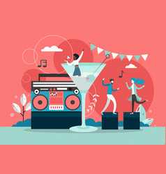 disco party flat style design vector image