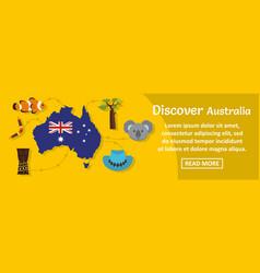 Discover australia banner horizontal concept vector