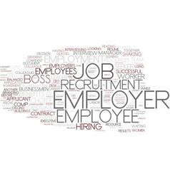 Employer word cloud concept vector