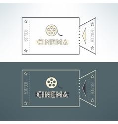 entry cinema ticket in modern flat design vector image