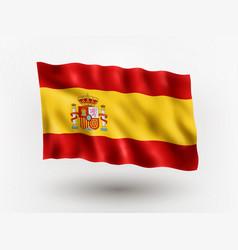 flag spain vector image