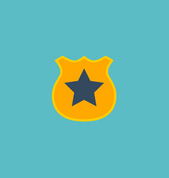 flat icon police badge element vector image