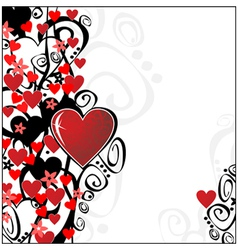 Floral valentine ornament for your design you can vector