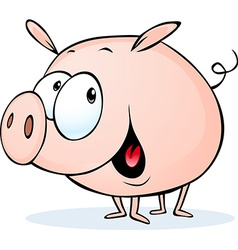 funny pig cartoon - vector image