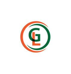 Gl company logo template design vector