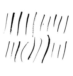 grunge brush strokes set for design vector image