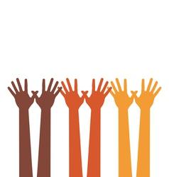 happy hands vector image