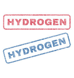 Hydrogen textile stamps vector