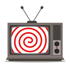 Hypnotic old tv propaganda people vector