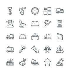 Industrial cool icons 4 vector