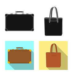 Isolated object of suitcase and baggage icon vector