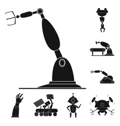Isolated object robot and factory icon vector