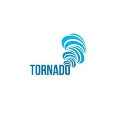 Isolated tornado logo Spinning air vector image