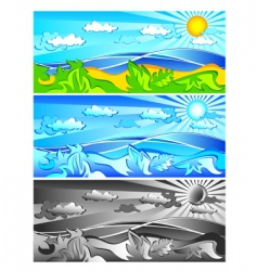 landscape colour vector image