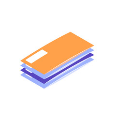 letters isometric icon vector image
