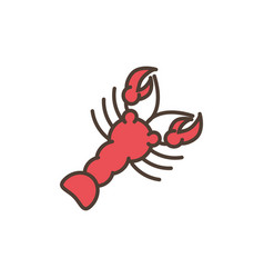 lobster oktoberfest icon line filled vector image