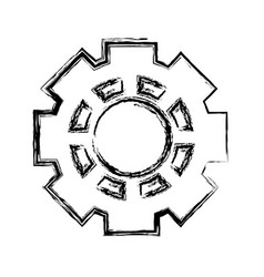 machinery gear isolated icon vector image