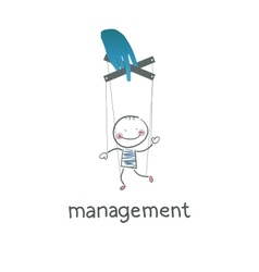 Management vector image