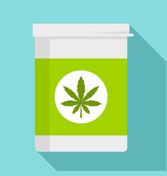 marijuana pill box icon flat style vector image