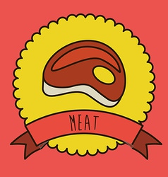 Meat design vector