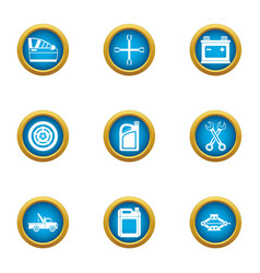 old shop icons set flat style vector image