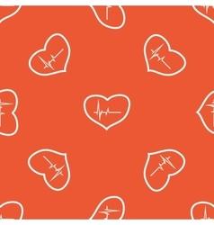 Orange cardiology pattern vector image
