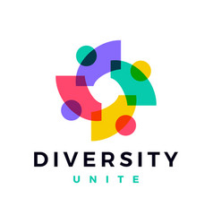 people family diversity colorful logo icon vector image