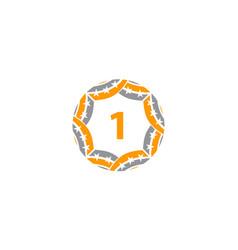 Ribbon circle star number 1 vector