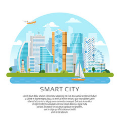 round style city skyscrapers landscape vector image